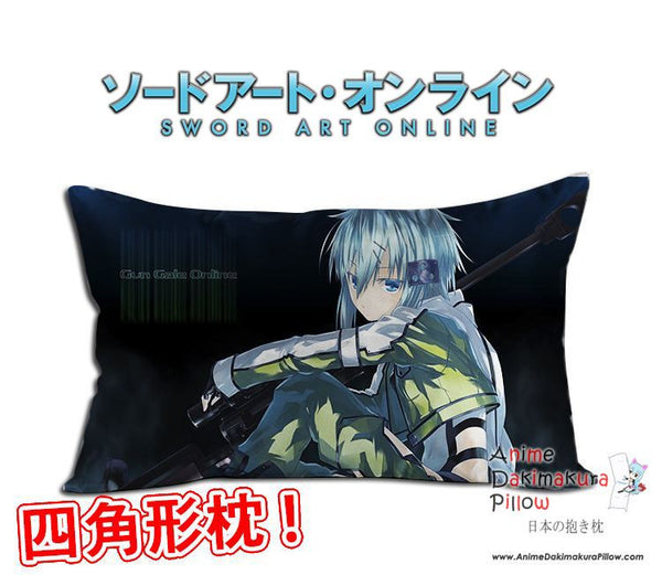 New Sinon - Sword Art Online Anime Waifu Dakimakura Rectangle 40x70cm Pillow Cover GZFONG-22 - Anime Dakimakura Pillow Shop | Fast, Free Shipping, Dakimakura Pillow & Cover shop, pillow For sale, Dakimakura Japan Store, Buy Custom Hugging Pillow Cover - 1