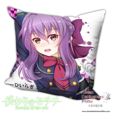 New Shinoa Hiiragi - Owari no Seraph Anime Dakimakura Square Pillow Cover H022 - Anime Dakimakura Pillow Shop | Fast, Free Shipping, Dakimakura Pillow & Cover shop, pillow For sale, Dakimakura Japan Store, Buy Custom Hugging Pillow Cover - 1