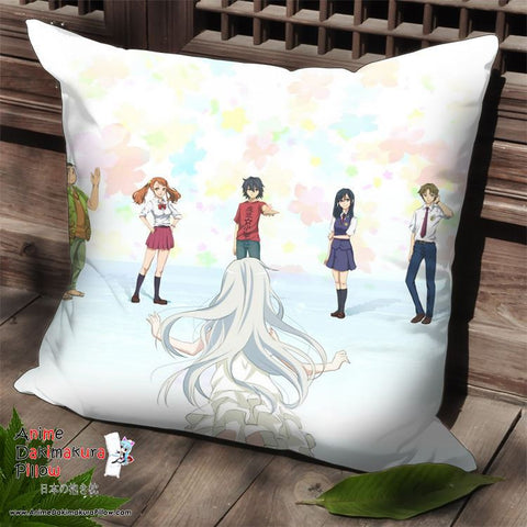 New AnoHana Anime Dakimakura Square Pillow Cover SPC234 - Anime Dakimakura Pillow Shop | Fast, Free Shipping, Dakimakura Pillow & Cover shop, pillow For sale, Dakimakura Japan Store, Buy Custom Hugging Pillow Cover - 1