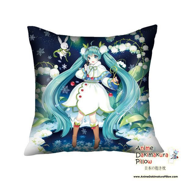 New Hatsune Miku - Vocaloid Anime Dakimakura Square Pillow Cover GZFONG25 - Anime Dakimakura Pillow Shop | Fast, Free Shipping, Dakimakura Pillow & Cover shop, pillow For sale, Dakimakura Japan Store, Buy Custom Hugging Pillow Cover - 1