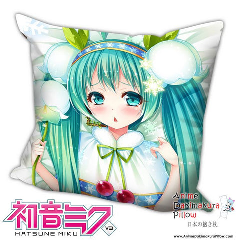 New Hatsune Miku - Vocaloid Anime Dakimakura Square Pillow Cover H025 - Anime Dakimakura Pillow Shop | Fast, Free Shipping, Dakimakura Pillow & Cover shop, pillow For sale, Dakimakura Japan Store, Buy Custom Hugging Pillow Cover - 1