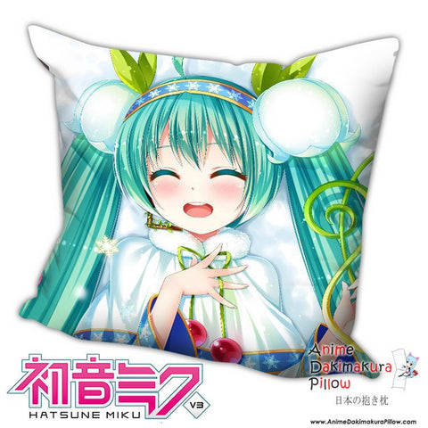 New Hatsune Miku - Vocaloid Anime Dakimakura Square Pillow Cover H026 - Anime Dakimakura Pillow Shop | Fast, Free Shipping, Dakimakura Pillow & Cover shop, pillow For sale, Dakimakura Japan Store, Buy Custom Hugging Pillow Cover - 1