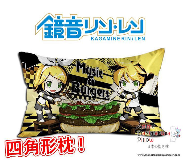 New Len and Rin Kagamine - Vocaloid Anime Waifu Dakimakura Rectangle 40x70cm Pillow Cover GZFONG-27 - Anime Dakimakura Pillow Shop | Fast, Free Shipping, Dakimakura Pillow & Cover shop, pillow For sale, Dakimakura Japan Store, Buy Custom Hugging Pillow Cover - 1