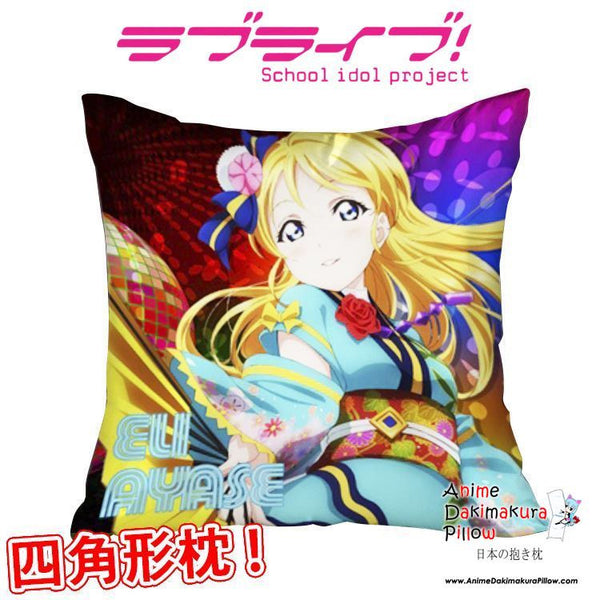 New Ayase Eli - Love Live Anime Dakimakura Square Pillow Cover GZFONG287 - Anime Dakimakura Pillow Shop | Fast, Free Shipping, Dakimakura Pillow & Cover shop, pillow For sale, Dakimakura Japan Store, Buy Custom Hugging Pillow Cover - 1