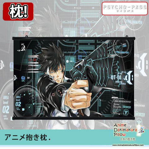 New Psycho Pass Japanese Anime Art Wall Scroll Poster Limited Edition High Quality GZFONG029 - Anime Dakimakura Pillow Shop | Fast, Free Shipping, Dakimakura Pillow & Cover shop, pillow For sale, Dakimakura Japan Store, Buy Custom Hugging Pillow Cover - 1
