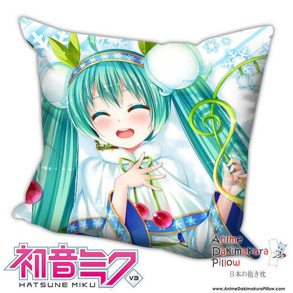 New Hatsune Miku - Vocaloid Anime Dakimakura Square Pillow Cover H029 - Anime Dakimakura Pillow Shop | Fast, Free Shipping, Dakimakura Pillow & Cover shop, pillow For sale, Dakimakura Japan Store, Buy Custom Hugging Pillow Cover - 1
