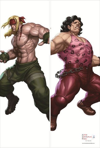 New Alex and Hugo - Street Fighter Male Anime Dakimakura Japanese Pillow Cover SF2 - Anime Dakimakura Pillow Shop | Fast, Free Shipping, Dakimakura Pillow & Cover shop, pillow For sale, Dakimakura Japan Store, Buy Custom Hugging Pillow Cover - 1