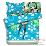 New Hatsune Miku - Vocaloid Japanese Anime Bed Blanket or Duvet Cover with Pillow Covers ADP-CP150013 - Anime Dakimakura Pillow Shop | Fast, Free Shipping, Dakimakura Pillow & Cover shop, pillow For sale, Dakimakura Japan Store, Buy Custom Hugging Pillow Cover - 2