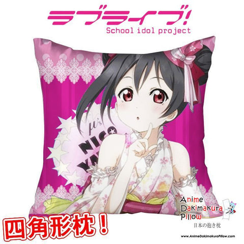 New Nico Yazawa - Love Live Anime Dakimakura Square Pillow Cover GZFONG304 - Anime Dakimakura Pillow Shop | Fast, Free Shipping, Dakimakura Pillow & Cover shop, pillow For sale, Dakimakura Japan Store, Buy Custom Hugging Pillow Cover - 1