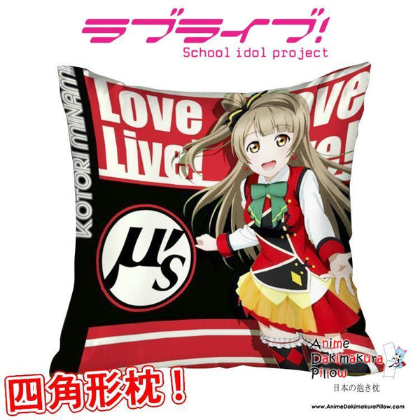 New Minami Kotori - Love Live Anime Dakimakura Square Pillow Cover GZFONG308 - Anime Dakimakura Pillow Shop | Fast, Free Shipping, Dakimakura Pillow & Cover shop, pillow For sale, Dakimakura Japan Store, Buy Custom Hugging Pillow Cover - 1