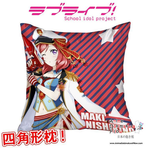 New Maki Nishikino - Love Live Anime Dakimakura Square Pillow Cover GZFONG314 - Anime Dakimakura Pillow Shop | Fast, Free Shipping, Dakimakura Pillow & Cover shop, pillow For sale, Dakimakura Japan Store, Buy Custom Hugging Pillow Cover - 1