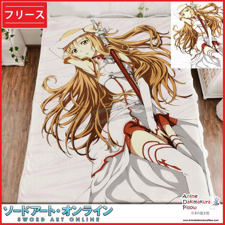 New Asuna - Sword Art Online Japanese Anime Fleece Flannel Bed Throws GZFONG319