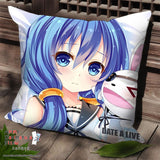 New Yoshino - Date a Live Anime Dakimakura Square Pillow Cover SPC31 - Anime Dakimakura Pillow Shop | Fast, Free Shipping, Dakimakura Pillow & Cover shop, pillow For sale, Dakimakura Japan Store, Buy Custom Hugging Pillow Cover - 1