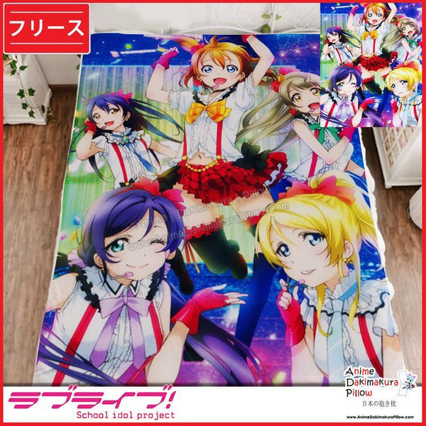 New Love Live School Idol Project Japanese Anime Fleece Flannel Bed Throws GZFONG329 - Anime Dakimakura Pillow Shop | Fast, Free Shipping, Dakimakura Pillow & Cover shop, pillow For sale, Dakimakura Japan Store, Buy Custom Hugging Pillow Cover - 1