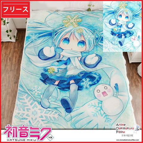 New Hatsune Miku - Vocaloid Japanese Anime Fleece Flannel Bed Throws GZFONG330 - Anime Dakimakura Pillow Shop | Fast, Free Shipping, Dakimakura Pillow & Cover shop, pillow For sale, Dakimakura Japan Store, Buy Custom Hugging Pillow Cover - 1