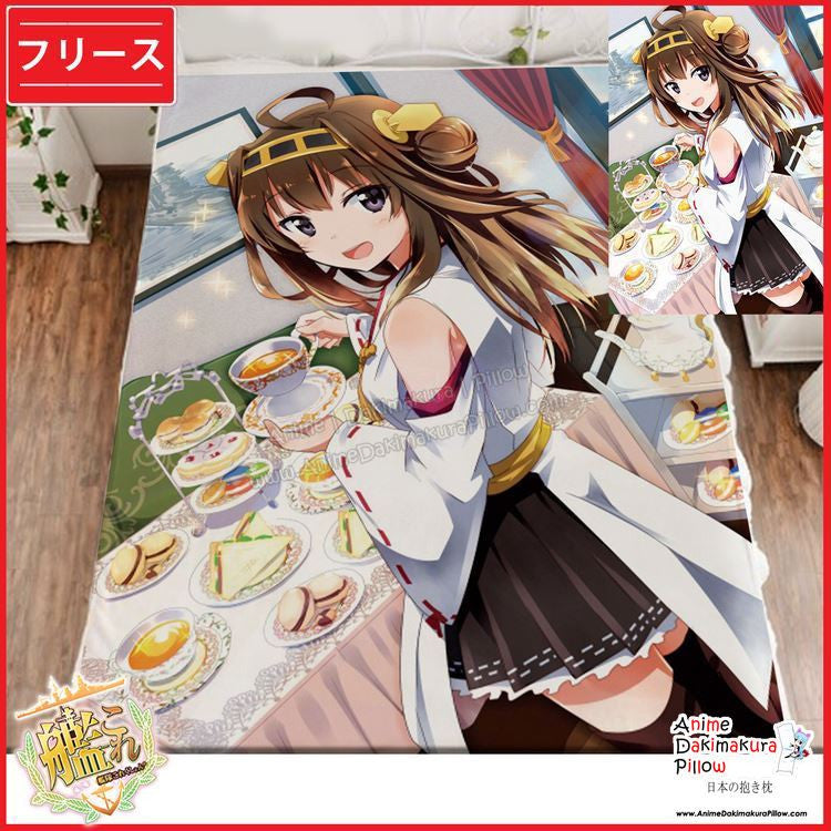 New Kongou - Kantai Collection Japanese Anime Fleece Flannel Bed Throws GZFONG339