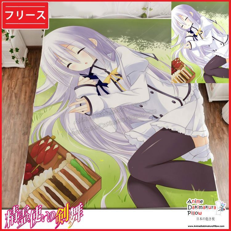 New Terminus EST - Blade Dance of the Elementalers Japanese Anime Fleece Flannel Bed Throws GZFONG345