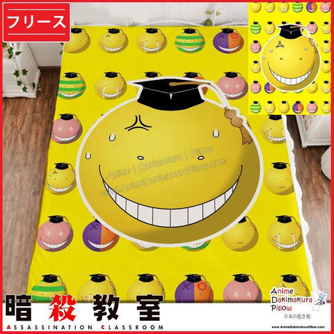 New Koro Sensei - Assassination Classroom Japanese Anime Fleece Flannel Bed Throws GZFONG348 - Anime Dakimakura Pillow Shop | Fast, Free Shipping, Dakimakura Pillow & Cover shop, pillow For sale, Dakimakura Japan Store, Buy Custom Hugging Pillow Cover - 1