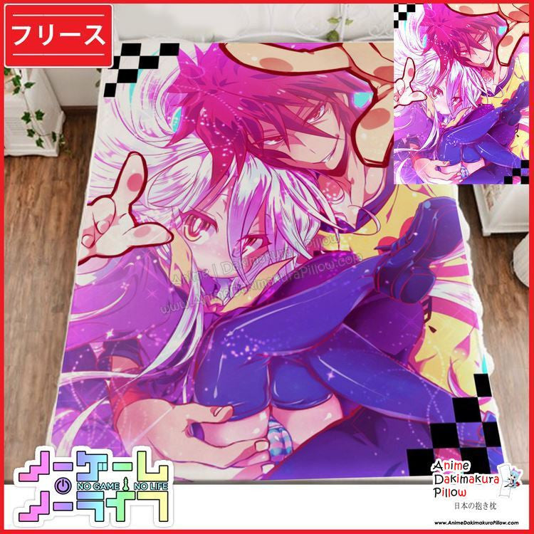 New No Game No Life Japanese Anime Fleece Flannel Bed Throws GZFONG349