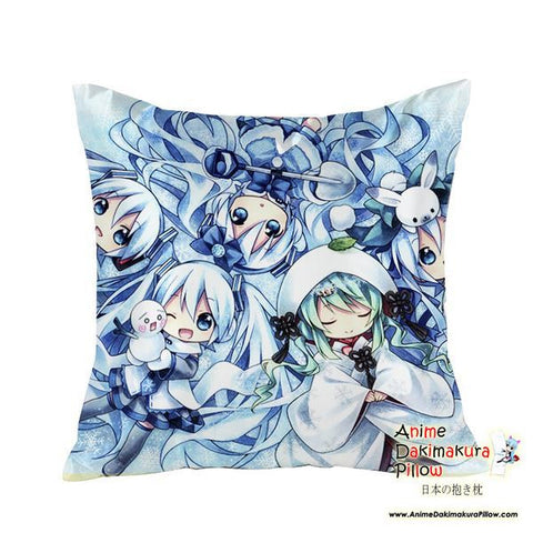 New Hatsune Miku - Vocaloid Anime Dakimakura Square Pillow Cover GZFONG34 - Anime Dakimakura Pillow Shop | Fast, Free Shipping, Dakimakura Pillow & Cover shop, pillow For sale, Dakimakura Japan Store, Buy Custom Hugging Pillow Cover - 1