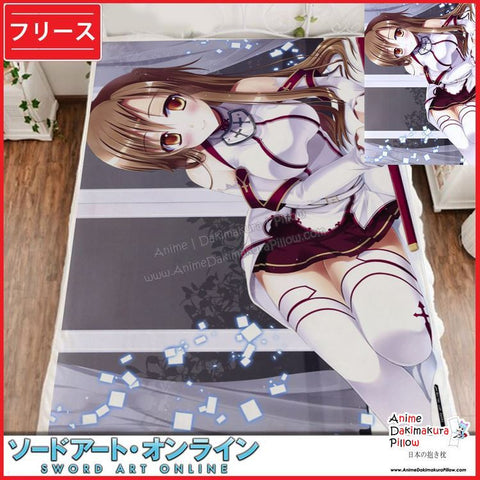 New Asuna - Sword Art Online Japanese Anime Fleece Flannel Bed Throws GZFONG356 - Anime Dakimakura Pillow Shop | Fast, Free Shipping, Dakimakura Pillow & Cover shop, pillow For sale, Dakimakura Japan Store, Buy Custom Hugging Pillow Cover - 1