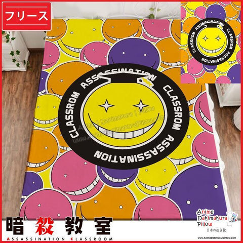 New Koro Sensei - Assassination Classroom Japanese Anime Fleece Flannel Bed Throws GZFONG358 - Anime Dakimakura Pillow Shop | Fast, Free Shipping, Dakimakura Pillow & Cover shop, pillow For sale, Dakimakura Japan Store, Buy Custom Hugging Pillow Cover - 1