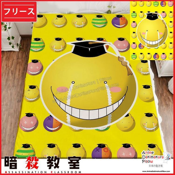 New Koro Sensei - Assassination Classroom Japanese Anime Fleece Flannel Bed Throws  GZFONG359 - Anime Dakimakura Pillow Shop | Fast, Free Shipping, Dakimakura Pillow & Cover shop, pillow For sale, Dakimakura Japan Store, Buy Custom Hugging Pillow Cover - 1