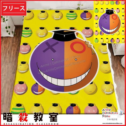New Koro Sensei - Assassination Classroom Japanese Anime Fleece Flannel Bed Throws GZFONG361 - Anime Dakimakura Pillow Shop | Fast, Free Shipping, Dakimakura Pillow & Cover shop, pillow For sale, Dakimakura Japan Store, Buy Custom Hugging Pillow Cover - 1