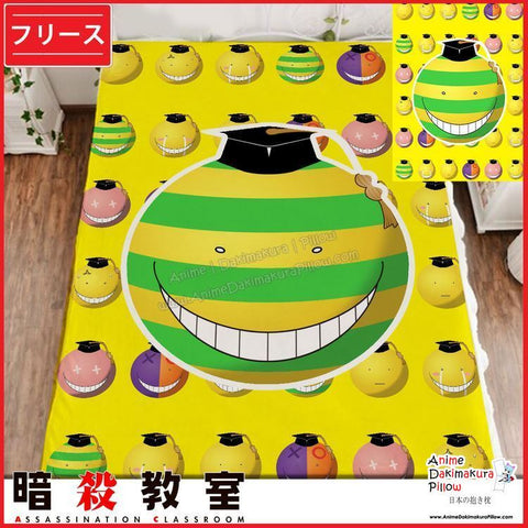 New Koro Sensei - Assassination Classroom Japanese Anime Fleece Flannel Bed Throws GZFONG362 - Anime Dakimakura Pillow Shop | Fast, Free Shipping, Dakimakura Pillow & Cover shop, pillow For sale, Dakimakura Japan Store, Buy Custom Hugging Pillow Cover - 1