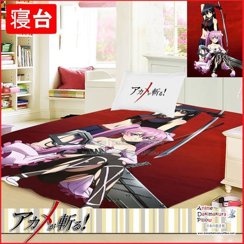 New Akame Ga Kill Japanese Anime Bed Blanket or Duvet Cover GZFONG377 - Anime Dakimakura Pillow Shop | Fast, Free Shipping, Dakimakura Pillow & Cover shop, pillow For sale, Dakimakura Japan Store, Buy Custom Hugging Pillow Cover - 1