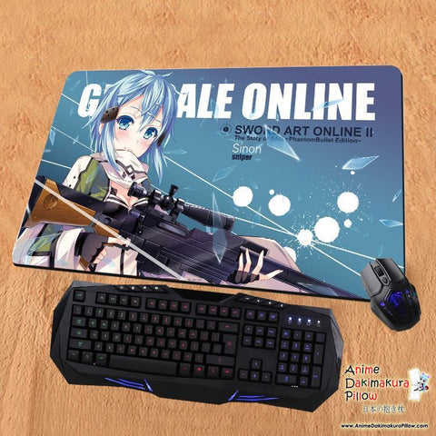 New Sinon - Sword Art Online Anime Gaming Playmat Multipurpose Mousepad PM37 - Anime Dakimakura Pillow Shop | Fast, Free Shipping, Dakimakura Pillow & Cover shop, pillow For sale, Dakimakura Japan Store, Buy Custom Hugging Pillow Cover - 1