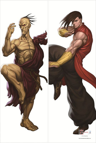 New Oro and Yang - Street Fighter Male Anime Dakimakura Japanese Pillow Cover SF3