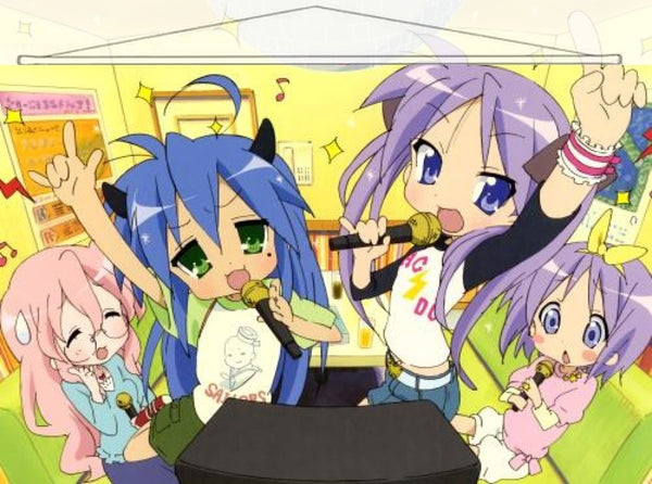 Lucky Star Japanese Anime Wall Scroll Poster and Banner 3