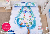 New Hatsune Miku - Vocaloid Japanese Anime Bed Blanket or Duvet Cover with Pillow Covers H0184 - Anime Dakimakura Pillow Shop | Fast, Free Shipping, Dakimakura Pillow & Cover shop, pillow For sale, Dakimakura Japan Store, Buy Custom Hugging Pillow Cover - 4