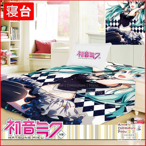 New Hatsune Miku - Vocaloid Japanese Anime Bed Blanket or Duvet Cover GZFONG402 - Anime Dakimakura Pillow Shop | Fast, Free Shipping, Dakimakura Pillow & Cover shop, pillow For sale, Dakimakura Japan Store, Buy Custom Hugging Pillow Cover - 1