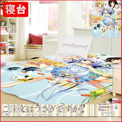 New Is The Order Rabbit Japanese Anime Bed Blanket or Duvet Cover GZFONG405 - Anime Dakimakura Pillow Shop | Fast, Free Shipping, Dakimakura Pillow & Cover shop, pillow For sale, Dakimakura Japan Store, Buy Custom Hugging Pillow Cover - 1