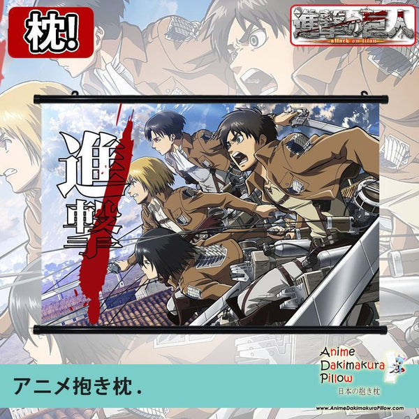 New Attack on Titan Japanese Anime Art Wall Scroll Poster Limited Edition High Quality GZFONG042 - Anime Dakimakura Pillow Shop | Fast, Free Shipping, Dakimakura Pillow & Cover shop, pillow For sale, Dakimakura Japan Store, Buy Custom Hugging Pillow Cover - 1