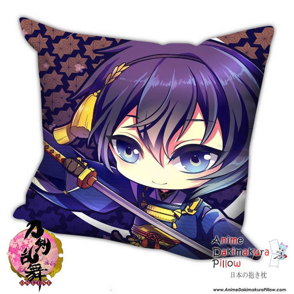 New Mikazuki Munechika - Touken Ranbu Anime Dakimakura Square Pillow Cover H042 - Anime Dakimakura Pillow Shop | Fast, Free Shipping, Dakimakura Pillow & Cover shop, pillow For sale, Dakimakura Japan Store, Buy Custom Hugging Pillow Cover - 1