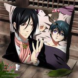 New Kuroshitsuji Anime Dakimakura Square Pillow Cover SPC42 - Anime Dakimakura Pillow Shop | Fast, Free Shipping, Dakimakura Pillow & Cover shop, pillow For sale, Dakimakura Japan Store, Buy Custom Hugging Pillow Cover - 1