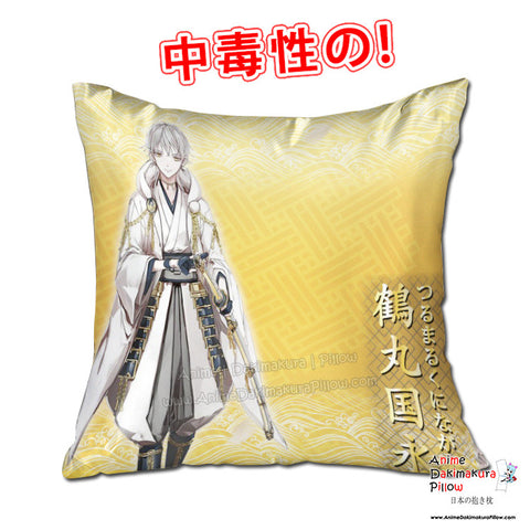 New Tsurumaru Kuninaga - Touken Ranbu 40x40cm Square Anime Dakimakura Throw Pillow Cover GZFONG440 - Anime Dakimakura Pillow Shop | Fast, Free Shipping, Dakimakura Pillow & Cover shop, pillow For sale, Dakimakura Japan Store, Buy Custom Hugging Pillow Cover - 1