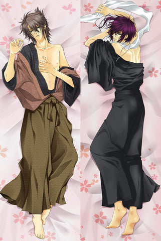 New  Male Hakuouki Shinsengumi Kitan Anime Dakimakura Japanese Pillow Cover MALE44 - Anime Dakimakura Pillow Shop | Fast, Free Shipping, Dakimakura Pillow & Cover shop, pillow For sale, Dakimakura Japan Store, Buy Custom Hugging Pillow Cover - 1