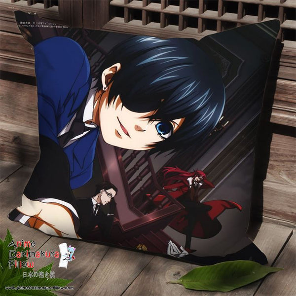New Kuroshitsuji Anime Dakimakura Square Pillow Cover SPC44 - Anime Dakimakura Pillow Shop | Fast, Free Shipping, Dakimakura Pillow & Cover shop, pillow For sale, Dakimakura Japan Store, Buy Custom Hugging Pillow Cover - 1