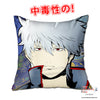 New Gintoki Sakata - Gintama 40x40cm Square Anime Dakimakura Throw Pillow Cover GZFONG450 - Anime Dakimakura Pillow Shop | Fast, Free Shipping, Dakimakura Pillow & Cover shop, pillow For sale, Dakimakura Japan Store, Buy Custom Hugging Pillow Cover - 1