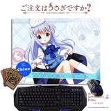New Chino Kafuu - Is The Order Rabbit Anime Gaming Mouse Pad Deluxe Multipurpose Playmat GZFONG-P47 - Anime Dakimakura Pillow Shop | Fast, Free Shipping, Dakimakura Pillow & Cover shop, pillow For sale, Dakimakura Japan Store, Buy Custom Hugging Pillow Cover - 1
