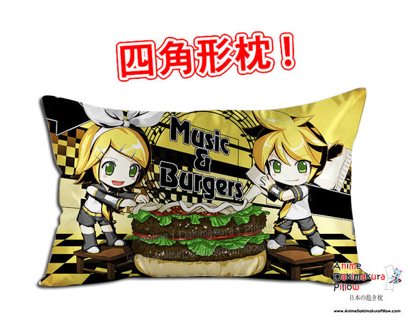 New Len and Rin Kagamine - Vocaloid Anime Dakimakura 45 x 75cm Rectangle Pillow Cover GZFONG487