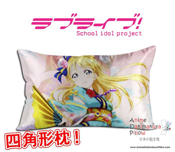 New Ayase Eli - Love Live Anime Waifu Dakimakura Rectangle 40x70cm Pillow Cover GZFONG-48 - Anime Dakimakura Pillow Shop | Fast, Free Shipping, Dakimakura Pillow & Cover shop, pillow For sale, Dakimakura Japan Store, Buy Custom Hugging Pillow Cover - 1