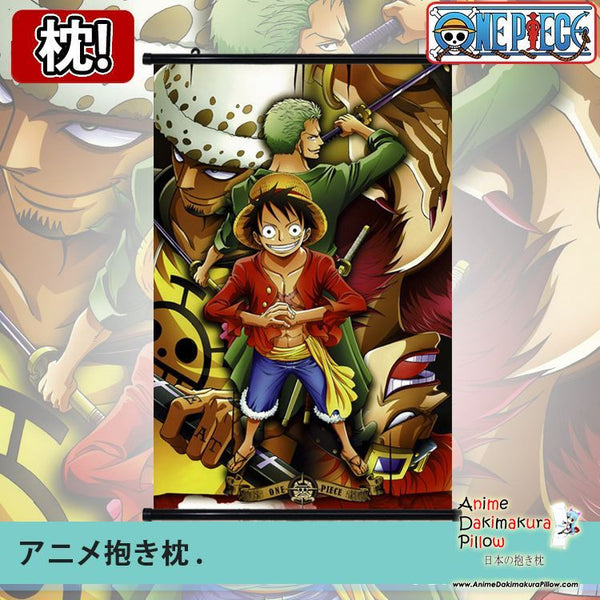 New One Piece Japanese Anime Art Wall Scroll Poster Limited Edition High Quality GZFONG048