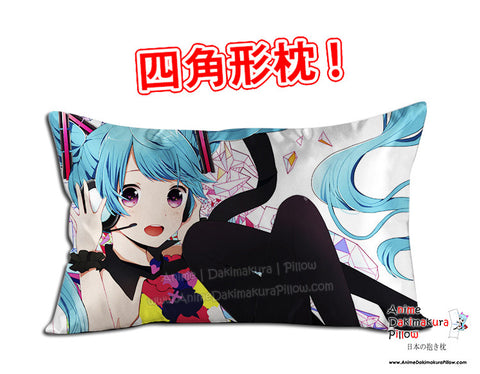 New Hatsune Miku -Vocaloid Anime Dakimakura 45 x 75cm Rectangle Pillow Cover GZFONG491 - Anime Dakimakura Pillow Shop | Fast, Free Shipping, Dakimakura Pillow & Cover shop, pillow For sale, Dakimakura Japan Store, Buy Custom Hugging Pillow Cover - 1