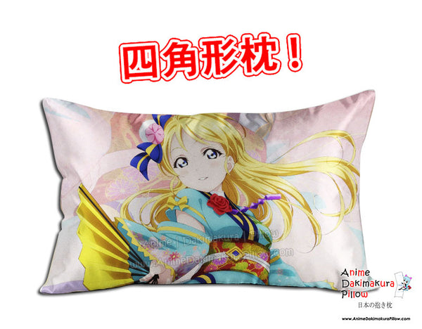 New Ayase Eli - Love Live Anime Dakimakura 45 x 75cm Rectangle Pillow Cover GZFONG496 - Anime Dakimakura Pillow Shop | Fast, Free Shipping, Dakimakura Pillow & Cover shop, pillow For sale, Dakimakura Japan Store, Buy Custom Hugging Pillow Cover - 1
