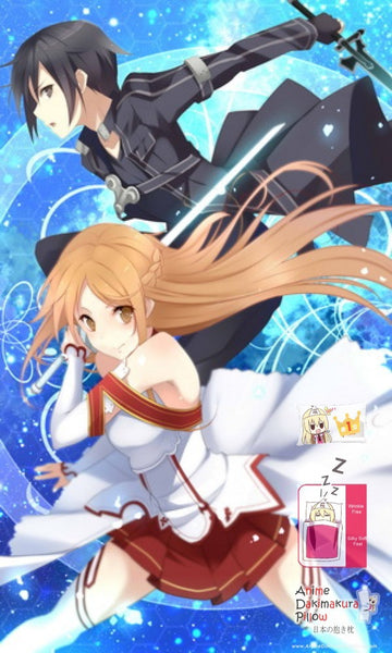 New Sword Art Online Japanese Anime Bed Blanket Cover or Duvet Cover Blanket 4 - Anime Dakimakura Pillow Shop | Fast, Free Shipping, Dakimakura Pillow & Cover shop, pillow For sale, Dakimakura Japan Store, Buy Custom Hugging Pillow Cover - 1